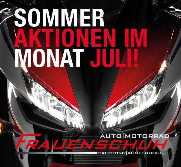 Sommeraktion Juli 2017 bei Honda Frauenschuh